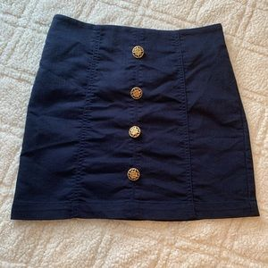 💛 Forever 21 High Waist Button Skirt